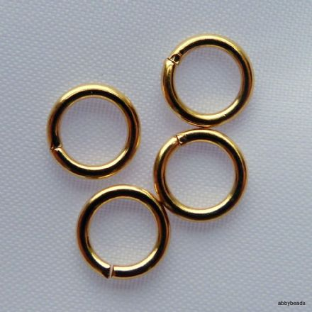 500 Gold plated round jump rings 4.5mm hard top quality